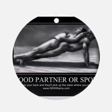 A good partner or spouse Ornament (Round)