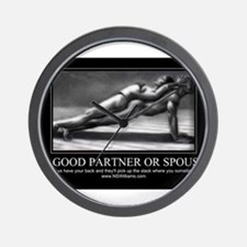 A good partner or spouse Wall Clock