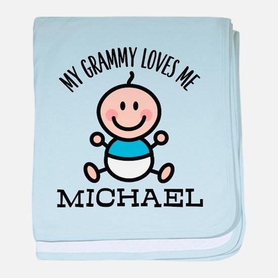 Grammy Loves Me Baby Boy baby blanket