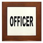 Officer Framed Tile