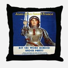 Bet she wore beaded under pants!Throw Pillow