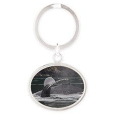 whales Oval Keychain