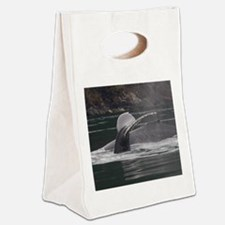whales Canvas Lunch Tote