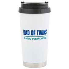 DAD OF TWINS Classic Overachiever Travel Mug