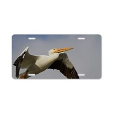White Pelican Departure Aluminum License Plate