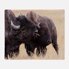 bison friendship Throw Blanket