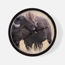 bison friendship Wall Clock