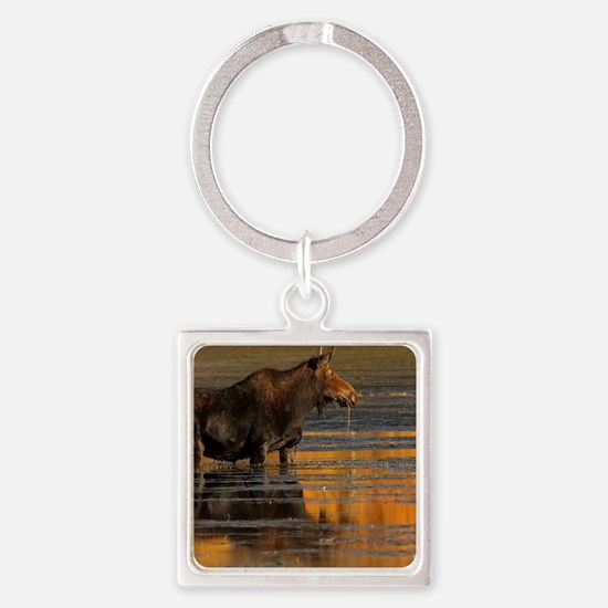 Moose & Reflections Square Keychain
