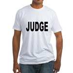 Judge (Front) Fitted T-Shirt