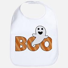 BOO Spooky Halloween Casper Bib