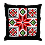 Folk Design 3 Throw Pillow