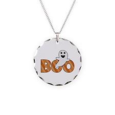 BOO Spooky Halloween Casper Necklace