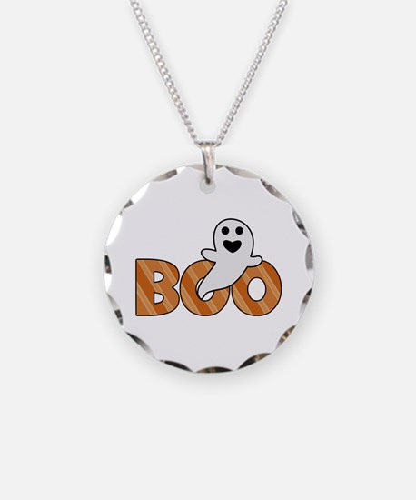 BOO Spooky Halloween Casper Necklace