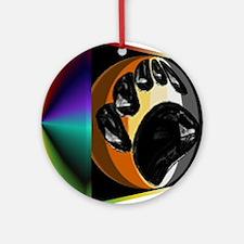 BEAR PRIDE IN PRISM BOX Ornament (Round)