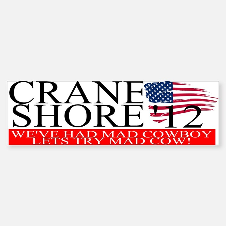 Denny Crane for President Bumper Bumper Stickers
