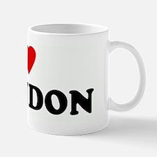 I Love BRANDON Mug