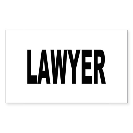 Lawyer Rectangle Sticker