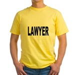 Lawyer (Front) Yellow T-Shirt