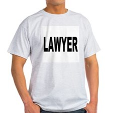 Lawyer (Front) Ash Grey T-Shirt