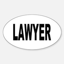 Lawyer Oval Decal