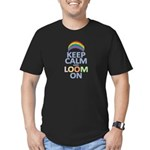 Keep Calm and Loom On Men's Fitted T-Shirt (dark)