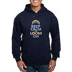 Keep Calm and Loom On Hoodie (dark)