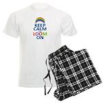 Keep Calm and Loom On Men's Light Pajamas