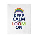 Keep Calm and Loom On Twin Duvet