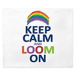 Keep Calm and Loom On King Duvet