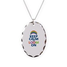 Keep Calm and Loom On Necklace