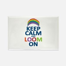 Keep Calm and Loom On Rectangle Magnet