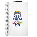 Keep Calm and Loom On Journal