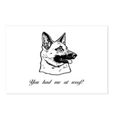 You had me at woof (gsd) Postcards (Package of 8)