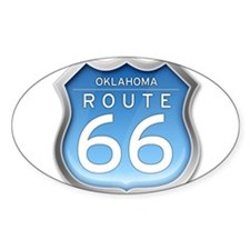 Oklahoma Route 66 - Blue Decal