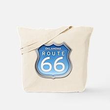 Oklahoma Route 66 - Blue Tote Bag