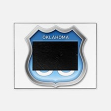 Oklahoma Route 66 - Blue Picture Frame