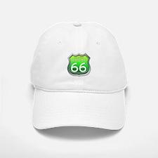 Oklahoma Route 66 - Green Baseball Baseball Baseball Cap