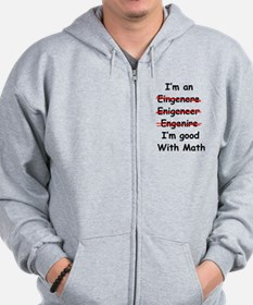 Im good with math Zip Hoodie