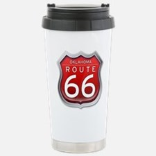 Oklahoma Route 66 - Red Travel Mug