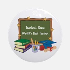 Personalized Teacher Ornament (Round)