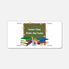 Personalized Teacher Aluminum License Plate