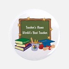 """Personalized Teacher 3.5"""" Button (100 pack)"""
