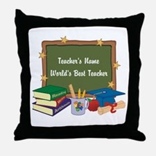 Personalized Teacher Throw Pillow