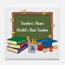 Personalized Teacher Tile Coaster