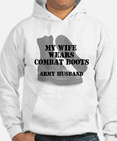 Army Husband Combat Boots Hoodie