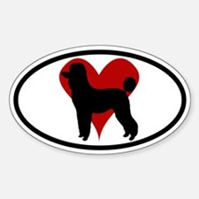 Poodle Love Oval Decal