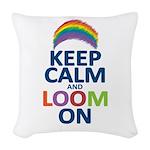 KEEP CALM AND LOOM ON Woven Throw Pillow