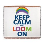 KEEP CALM AND LOOM ON Woven Blanket