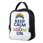 KEEP CALM AND LOOM ON Neoprene Lunch Bag