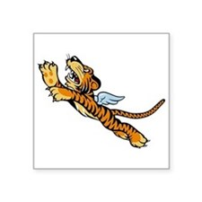 """The Flying Tigers Square Sticker 3"""" x 3"""""""